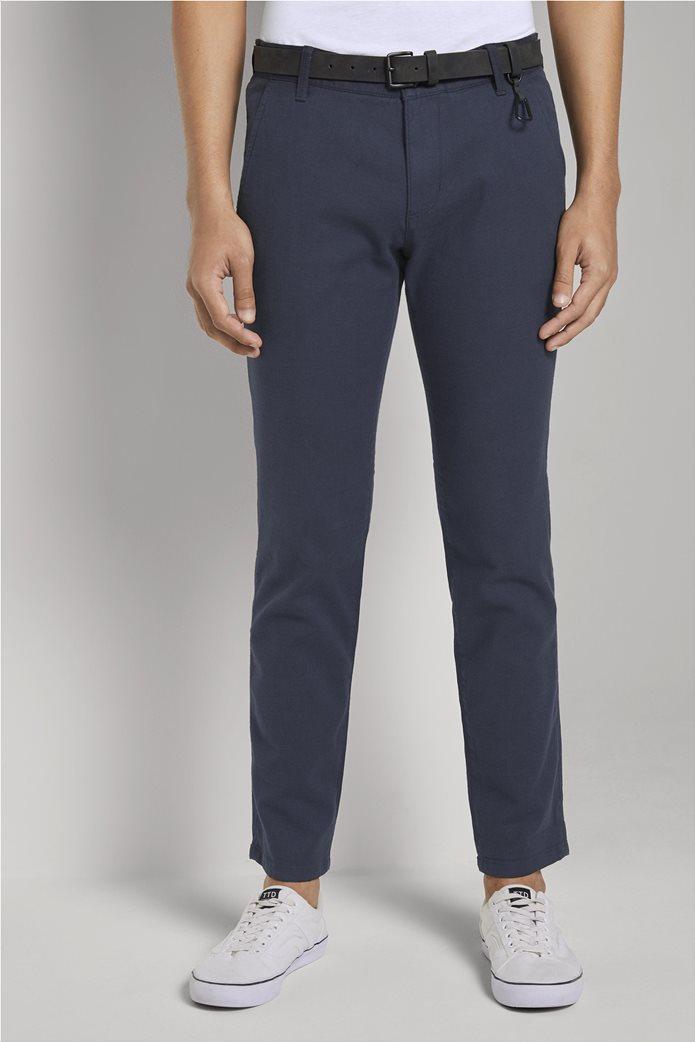 Tom Tailor ανδρικό chino παντελόνι με ανάγλυφη υφή 0