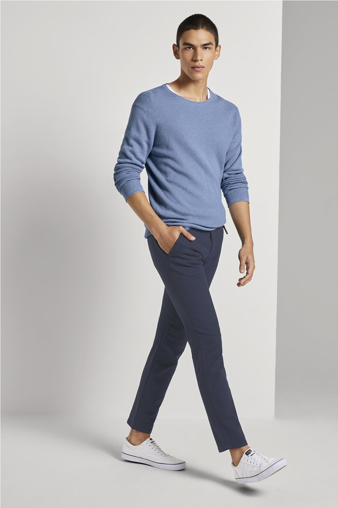 Tom Tailor ανδρικό chino παντελόνι με ανάγλυφη υφή 1