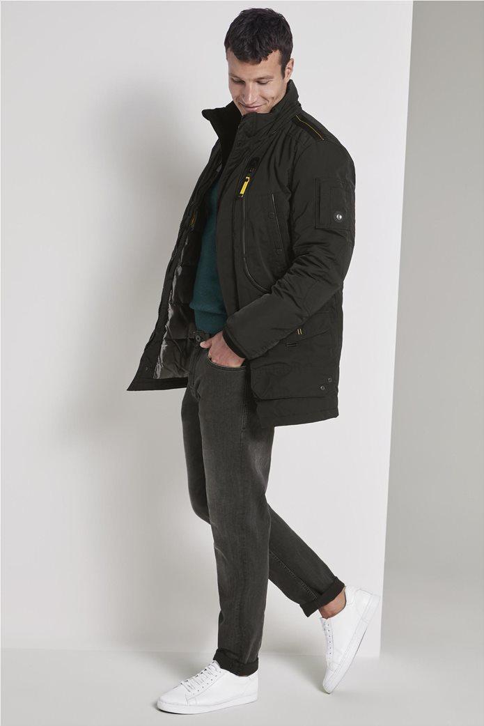 Tom Tailor ανδρικό μπουφάν παρκά με faux γούνα 1