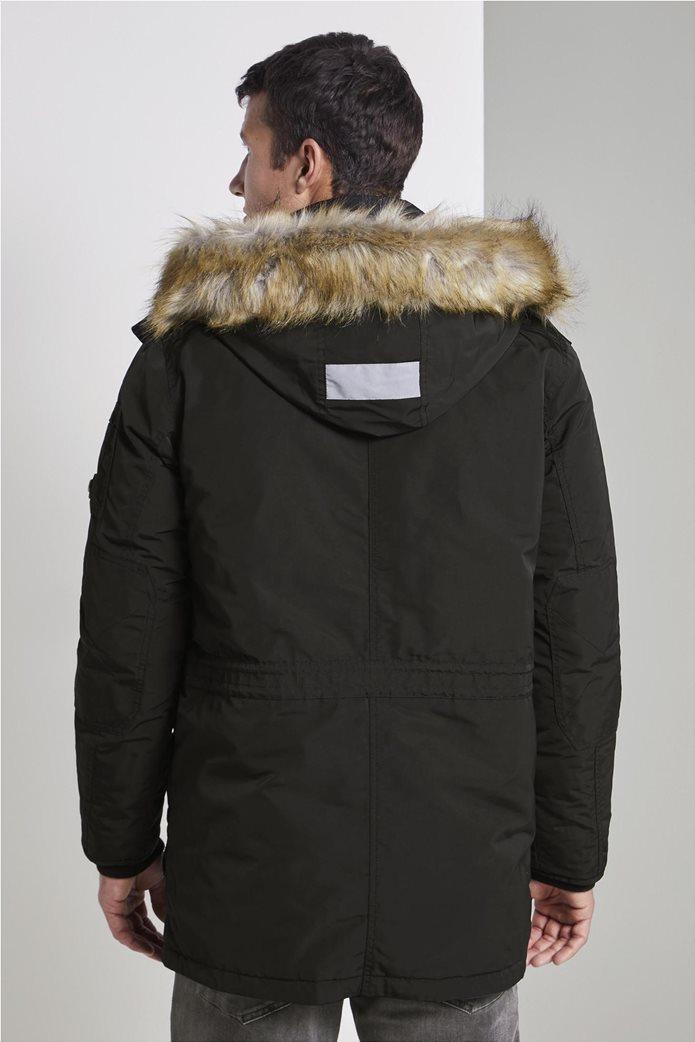 Tom Tailor ανδρικό μπουφάν παρκά με faux γούνα 2