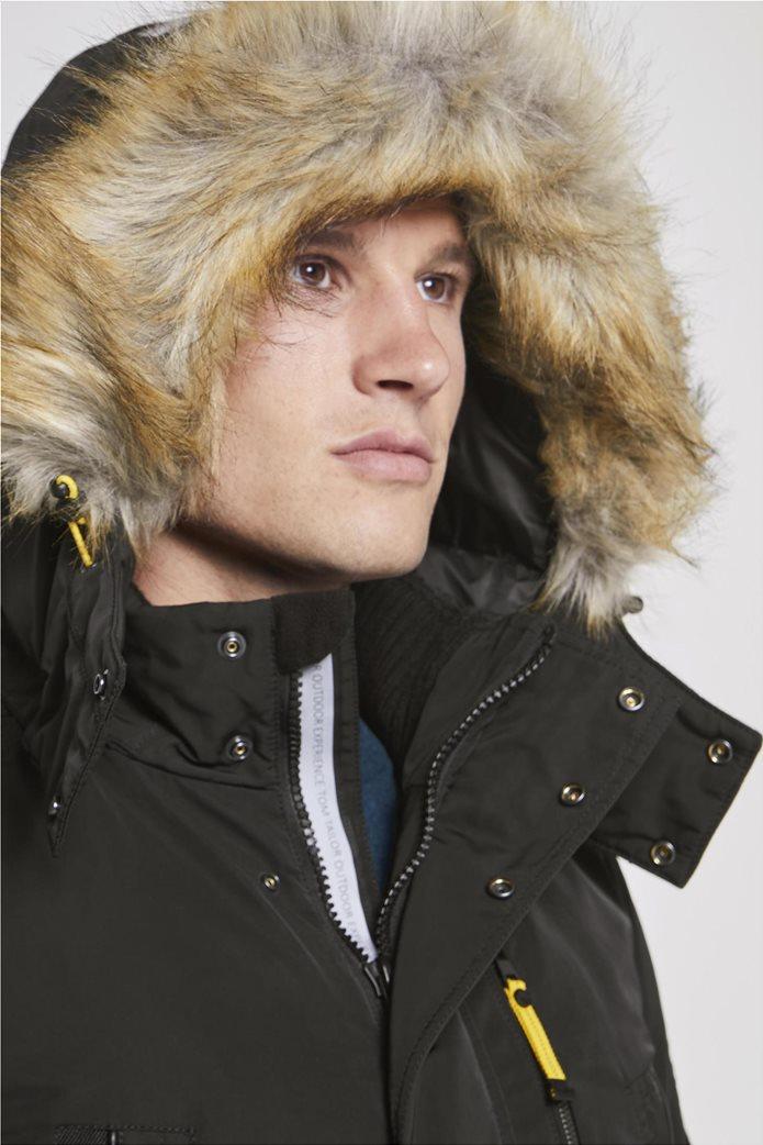Tom Tailor ανδρικό μπουφάν παρκά με faux γούνα 3