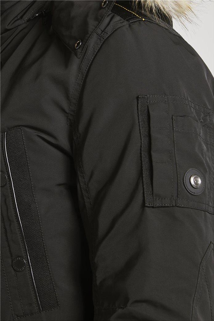 Tom Tailor ανδρικό μπουφάν παρκά με faux γούνα 4
