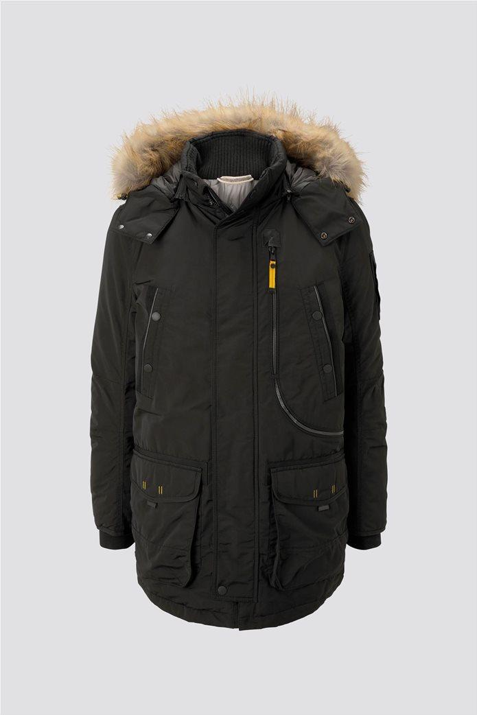 Tom Tailor ανδρικό μπουφάν παρκά με faux γούνα 5
