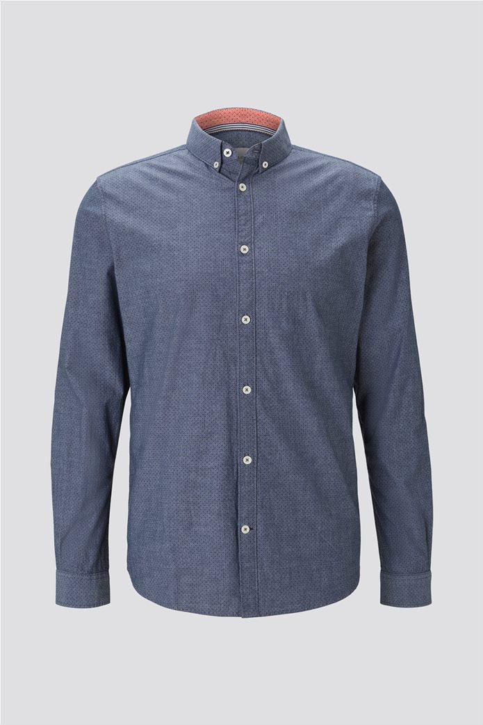 Tom Tailor ανδρικό πουκάμισο με μικροσχέδιο 4