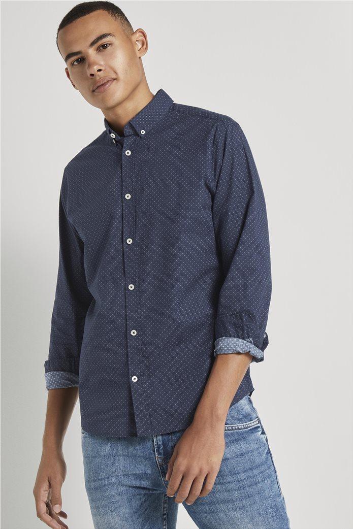 Tom Tailor ανδρικό πουκάμισο button down με μικροσχέδιο 0