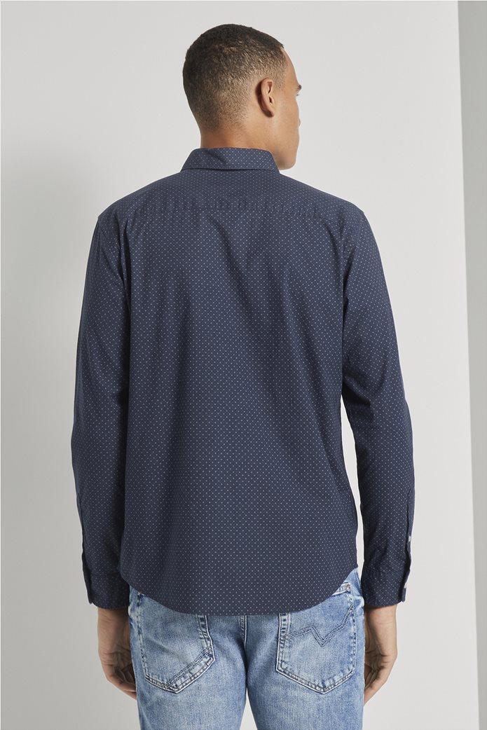 Tom Tailor ανδρικό πουκάμισο button down με μικροσχέδιο 2