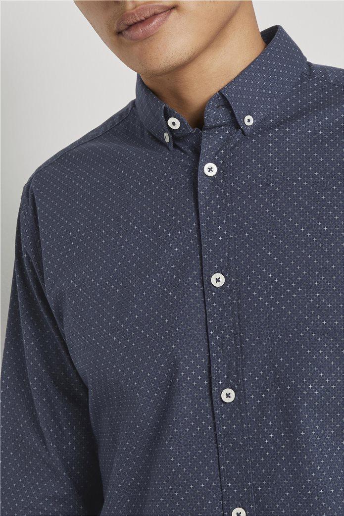 Tom Tailor ανδρικό πουκάμισο button down με μικροσχέδιο 3