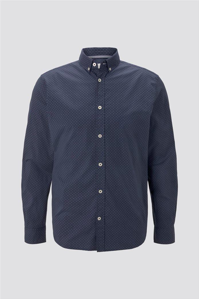 Tom Tailor ανδρικό πουκάμισο button down με μικροσχέδιο 4