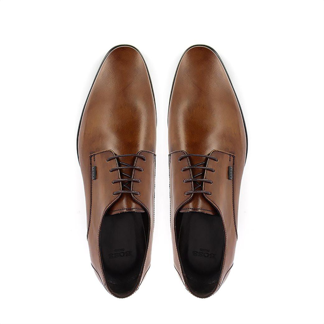 Boss Shoes ανδρικά δερμάτινα παπούτσια oxford με μεταλλικό λογότυπο 3