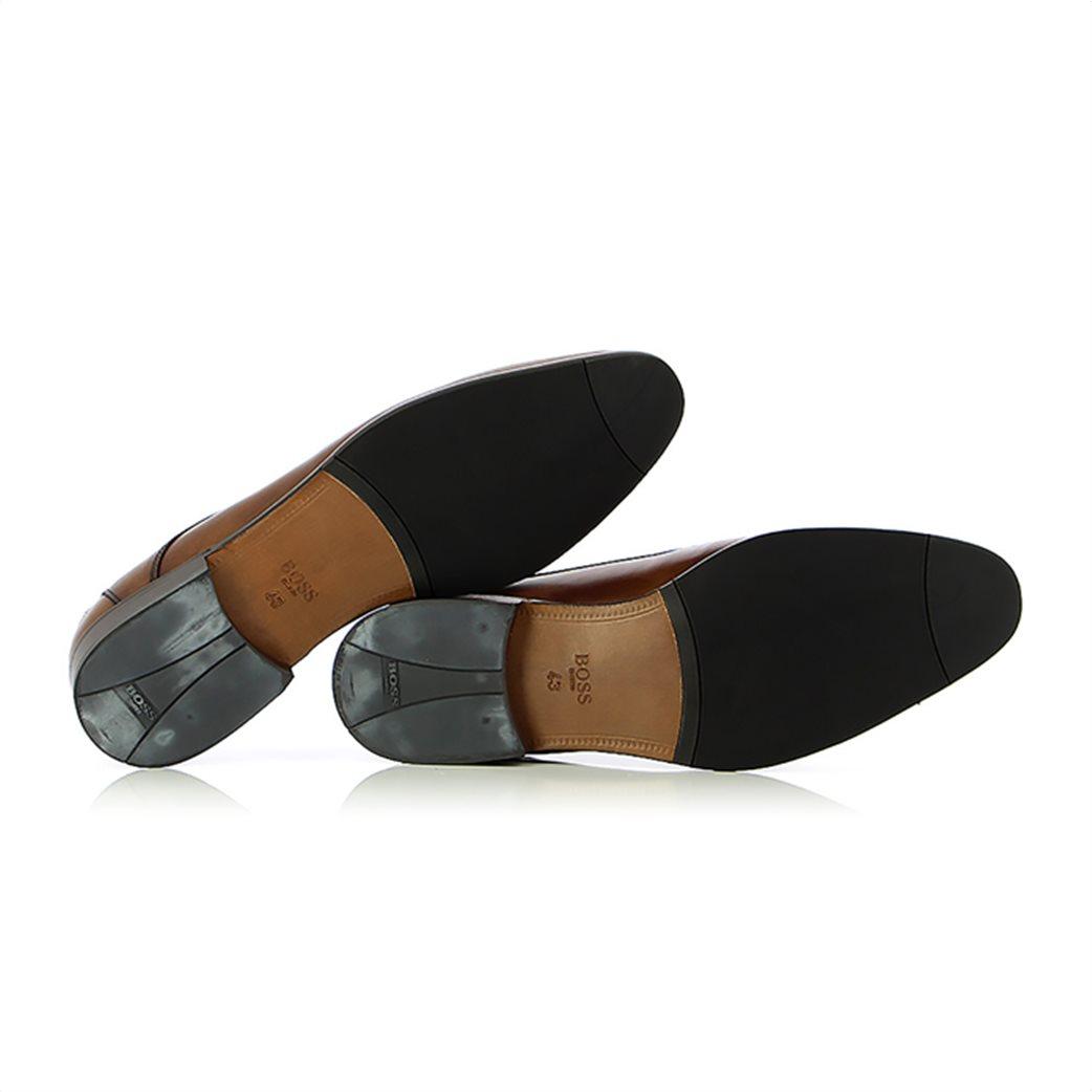 Boss Shoes ανδρικά δερμάτινα παπούτσια oxford με μεταλλικό λογότυπο 4