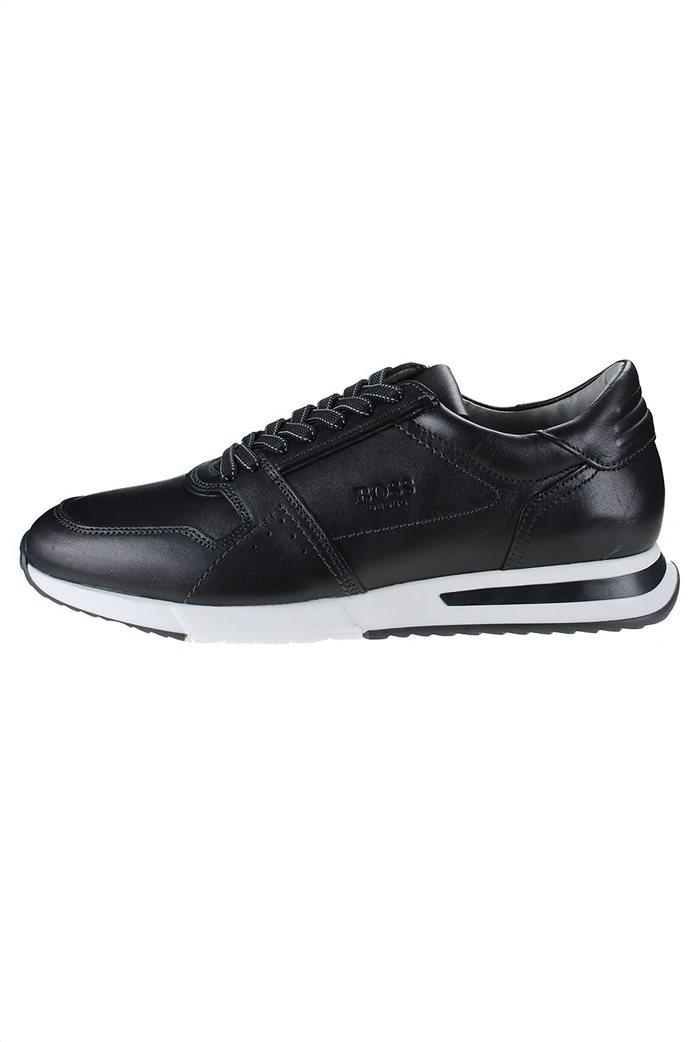 Boss Shoes ανδρικά δερμάτινα sneakers με ανάγλυφο λογότυπο 0