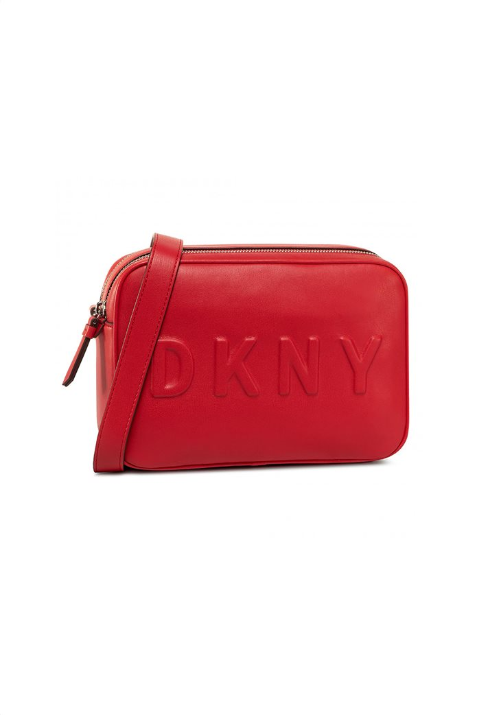 DKNY γυναικεία camera bag με ανάγλυφο λογότυπο 0