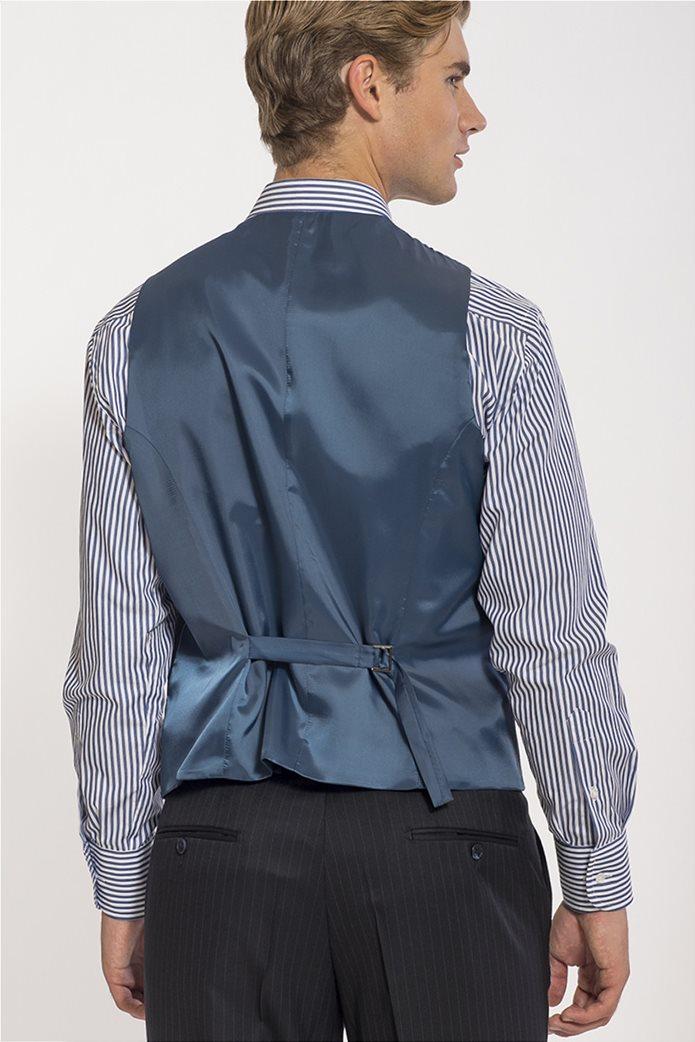 Mauro Boano ανδρικό κοστούμι 3 κομματιών slim fit ριγέ 3