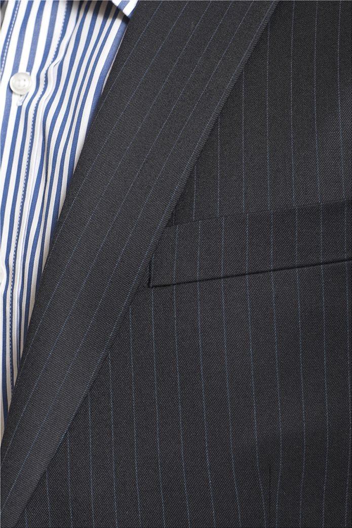 Mauro Boano ανδρικό κοστούμι 3 κομματιών slim fit ριγέ 4