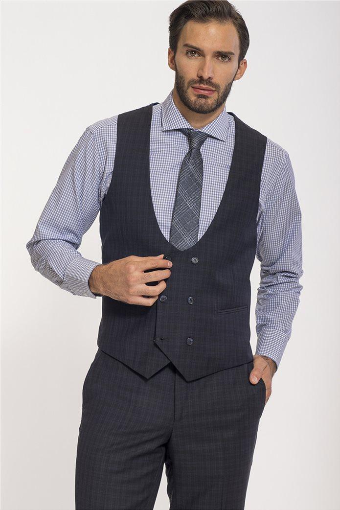 Mauro Boano ανδρικό κοστούμι 3 κομματιών slim fit καρό 2