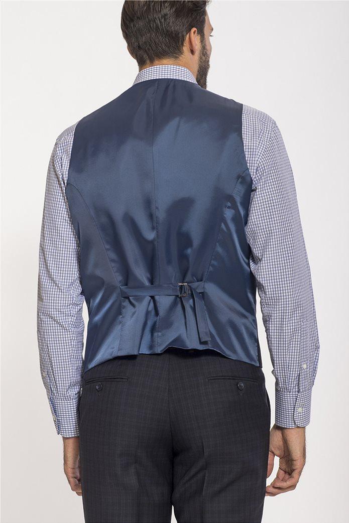 Mauro Boano ανδρικό κοστούμι 3 κομματιών slim fit καρό 3