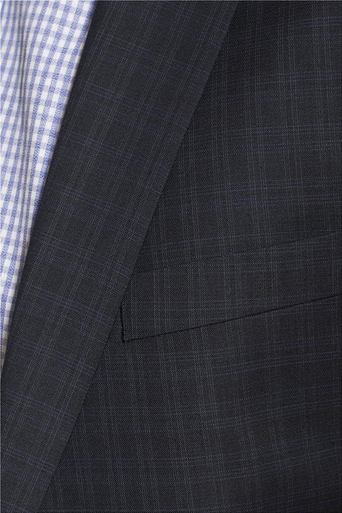 Mauro Boano ανδρικό κοστούμι 3 κομματιών slim fit καρό 4