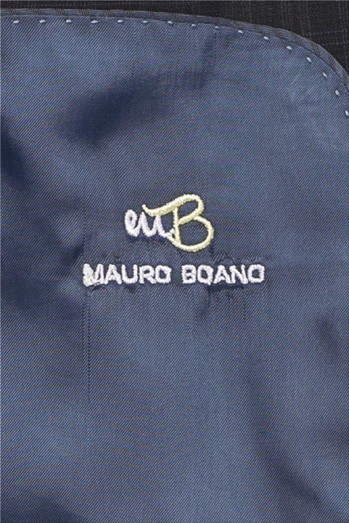 Mauro Boano ανδρικό κοστούμι 3 κομματιών slim fit καρό 5