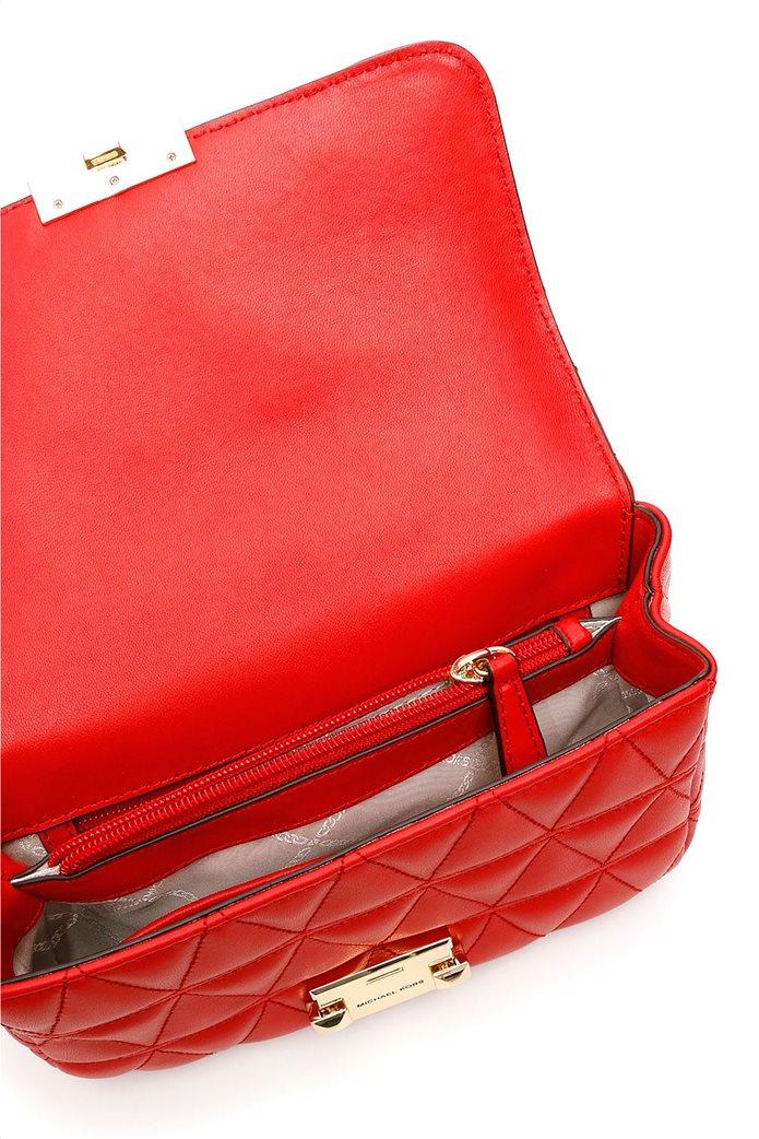 Michael Kors γυναικεία δερμάτινη τσάντα crossody καπιτονέ Sloan 2