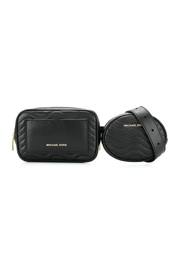 """Michael Kors γυναικείο δερμάτινο belt bag  """"Jet Set"""" 0"""