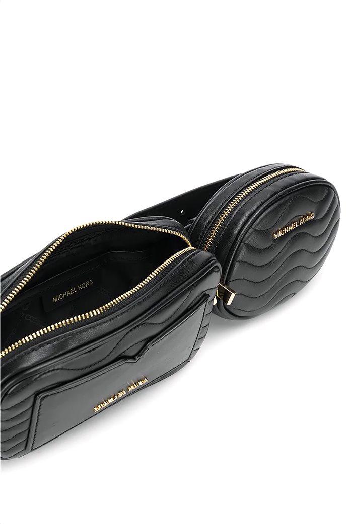 """Michael Kors γυναικείο δερμάτινο belt bag  """"Jet Set"""" 1"""