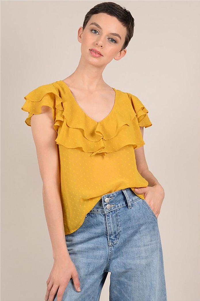Molly Bracken γυναικεία μπλούζα με βολάν 0