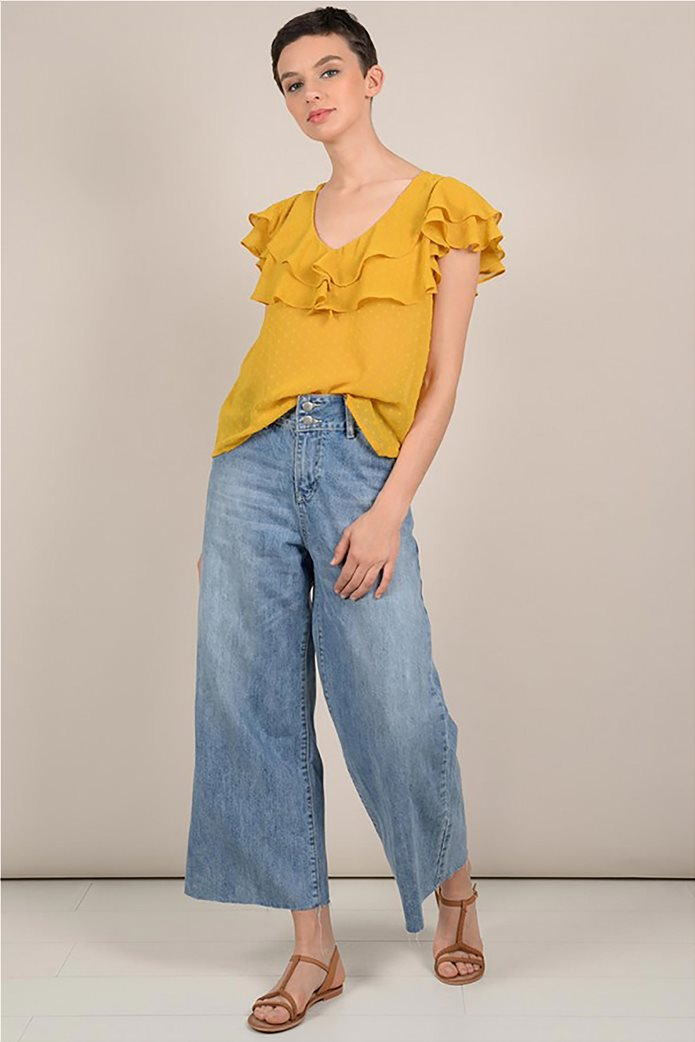 Molly Bracken γυναικεία μπλούζα με βολάν 1