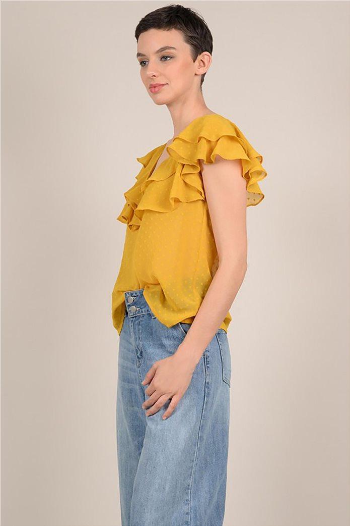 Molly Bracken γυναικεία μπλούζα με βολάν 2