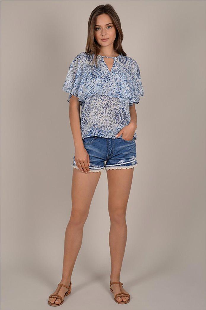 Molly Bracken γυναικεία μπλούζα με print και βολάν 1
