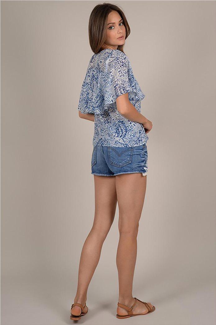 Molly Bracken γυναικεία μπλούζα με print και βολάν 3