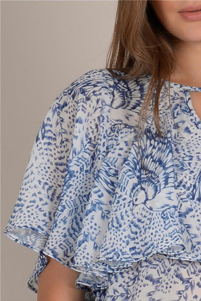 Molly Bracken γυναικεία μπλούζα με print και βολάν 4