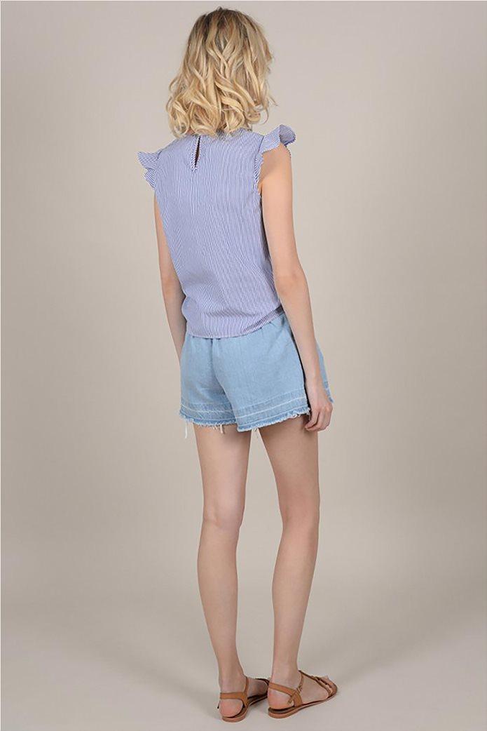 Molly Bracken γυναικεία ριγέ μπλούζα με φιόγκο 3