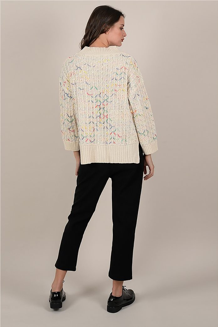 Molly Bracken γυναικείo πουλόβερ με ribbed πολύχρωμο σχέδιο 1