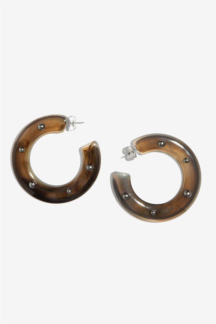 Νali γυναικεία σκουλαρίκια με τρούκς Circle Rock 0