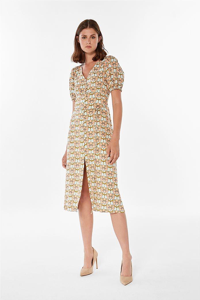 Jupe γυναικείο midi φόρεμα με floral print Σομον 0