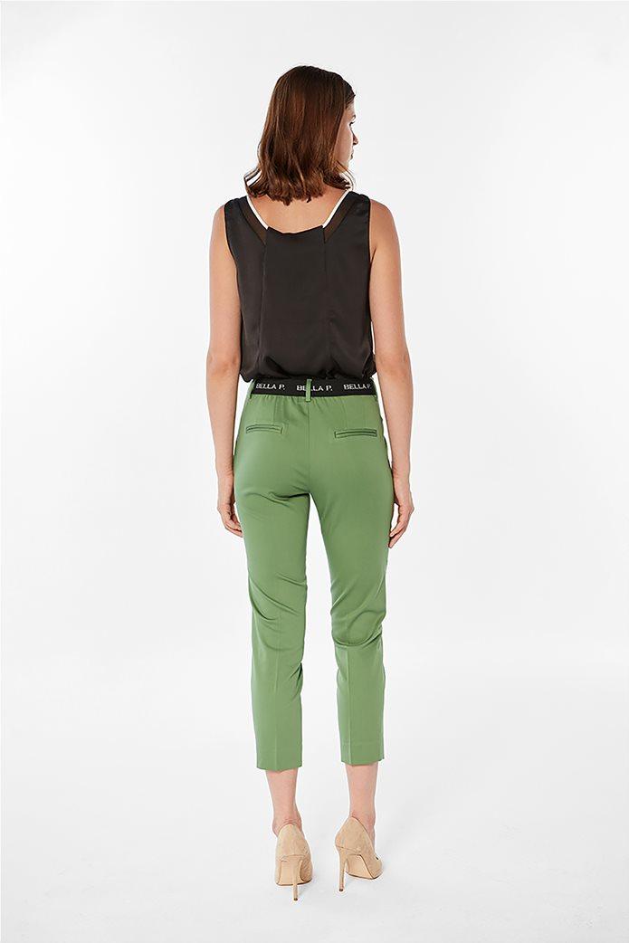 Bella P γυναικείο παντελόνι cropped μονόχρωμο Πράσινο 1