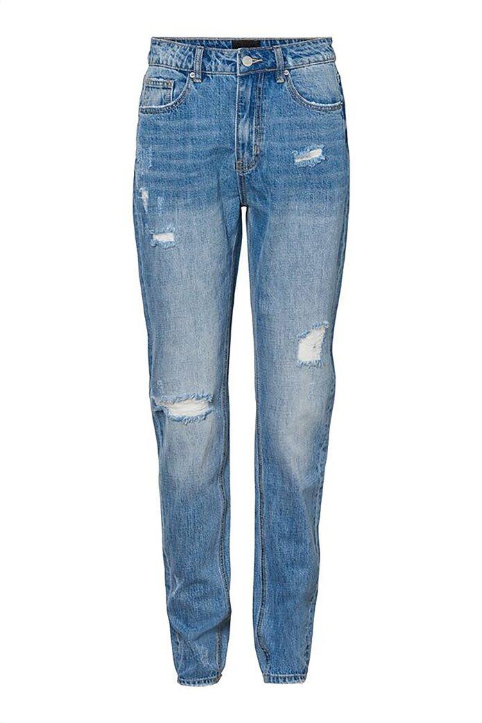 Vero Moda γυναικείο mom τζην παντελόνι με φθορές 3