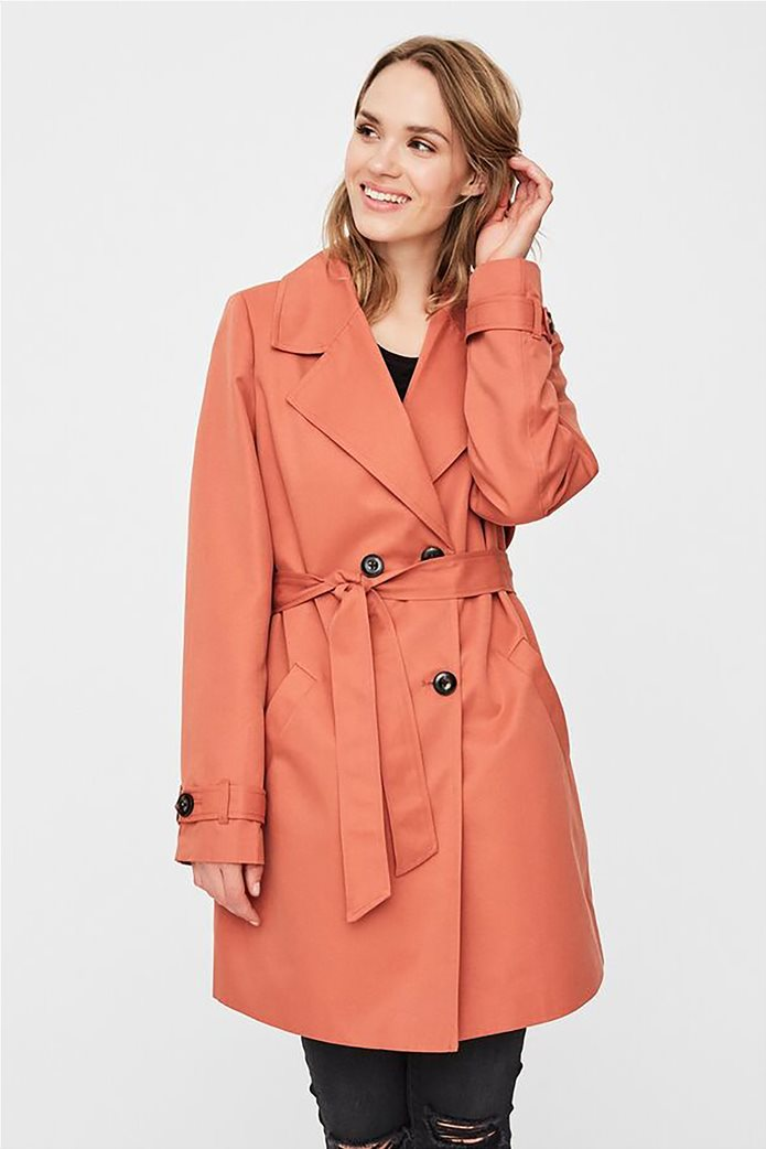 Vero Moda γυναικείo midi παλτό μονόχρωμο 0