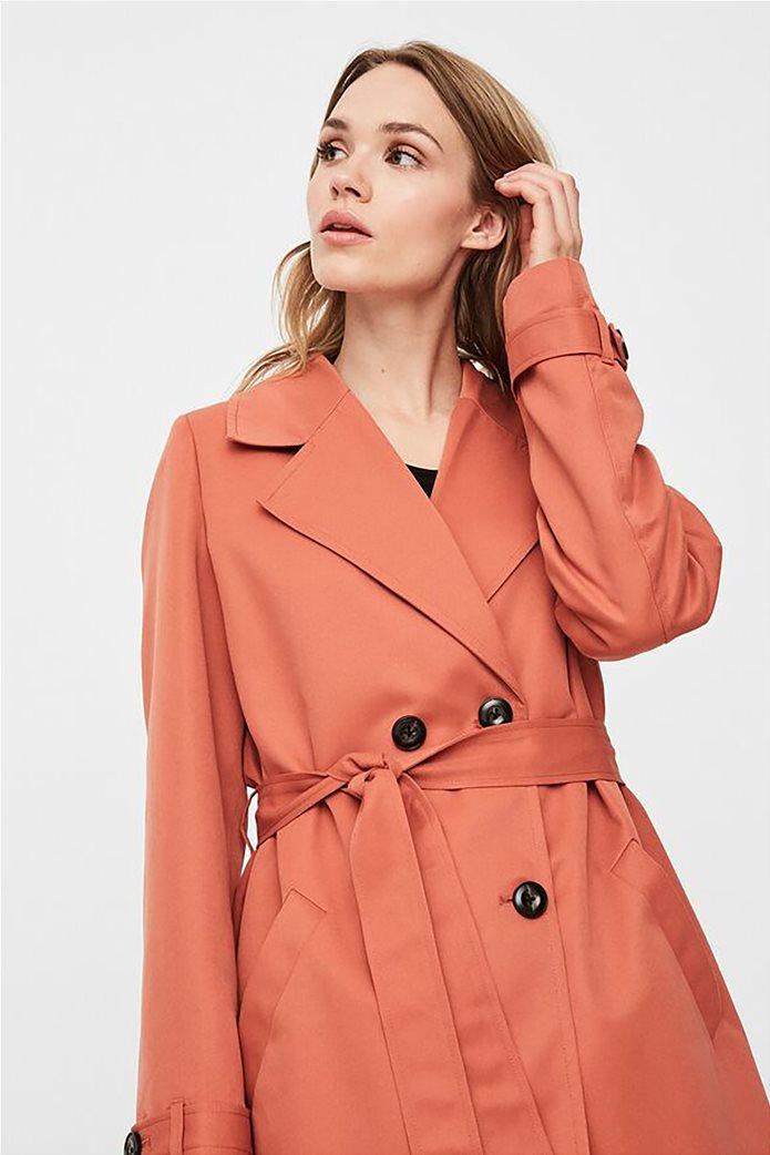 Vero Moda γυναικείo midi παλτό μονόχρωμο 2