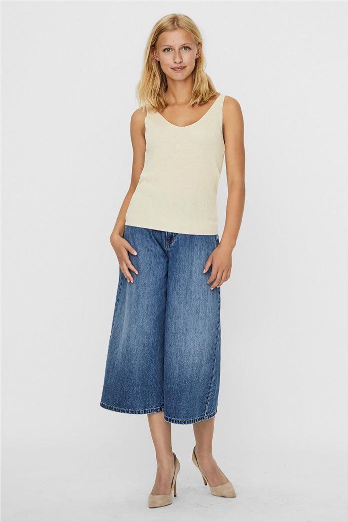 Vero Moda γυναικεία μπλούζα αμάνικη με ribbed πλέξη 1