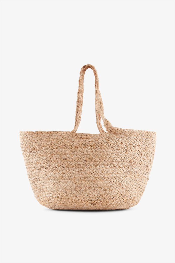 d675a2ed73 PIECES γυναικεία ψάθινη τσάντα ώμου 1
