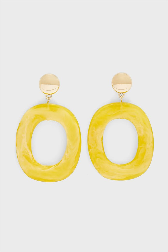 Pieces γυναικεία κρεμαστά σκουλαρίκια με στρογγυλό σχήμα 0