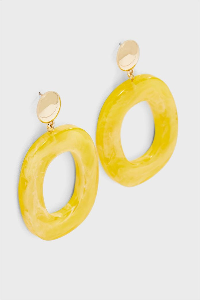 Pieces γυναικεία κρεμαστά σκουλαρίκια με στρογγυλό σχήμα 1