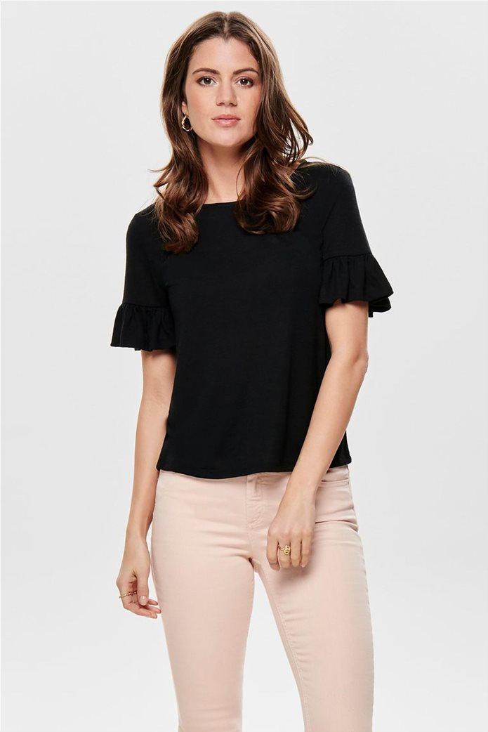 d57a9bb861cc ΟNLY γυναικεία μπλούζα με μανίκι βολάν 0