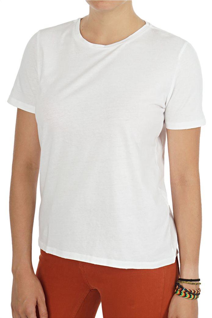 ΟΝLY γυναικείο Τ-shirt με στρογγυλή λαιμόκοψη μονόχρωμο 0