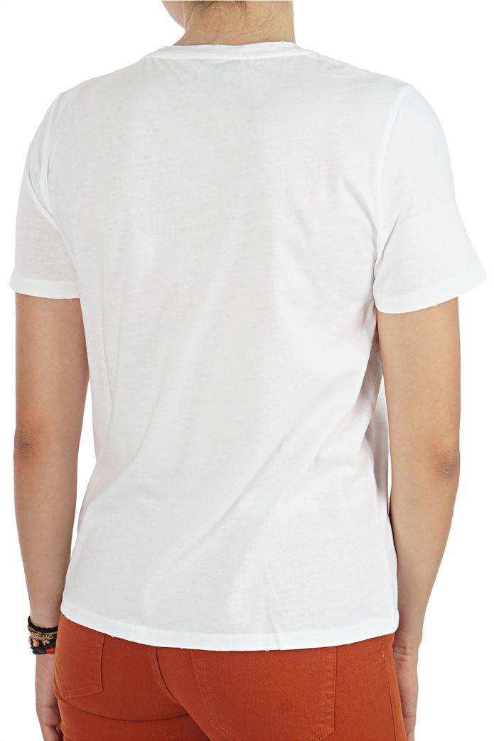 ΟΝLY γυναικείο Τ-shirt με στρογγυλή λαιμόκοψη μονόχρωμο 1
