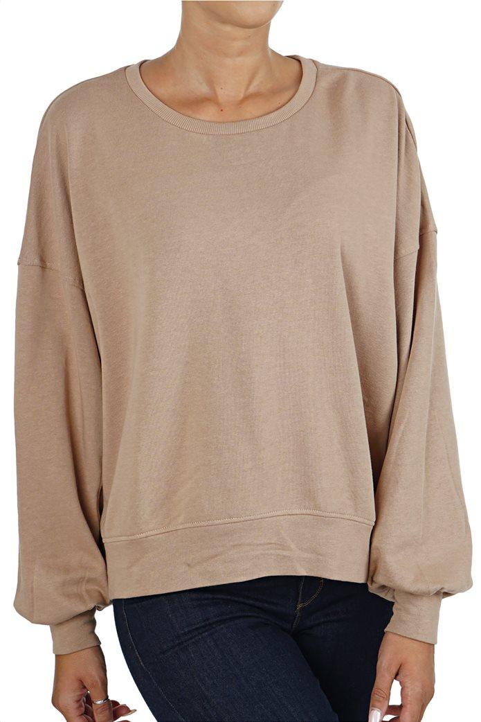 ONLY γυναικείο φούτερ oversized με φουσκωτά μανίκια 0