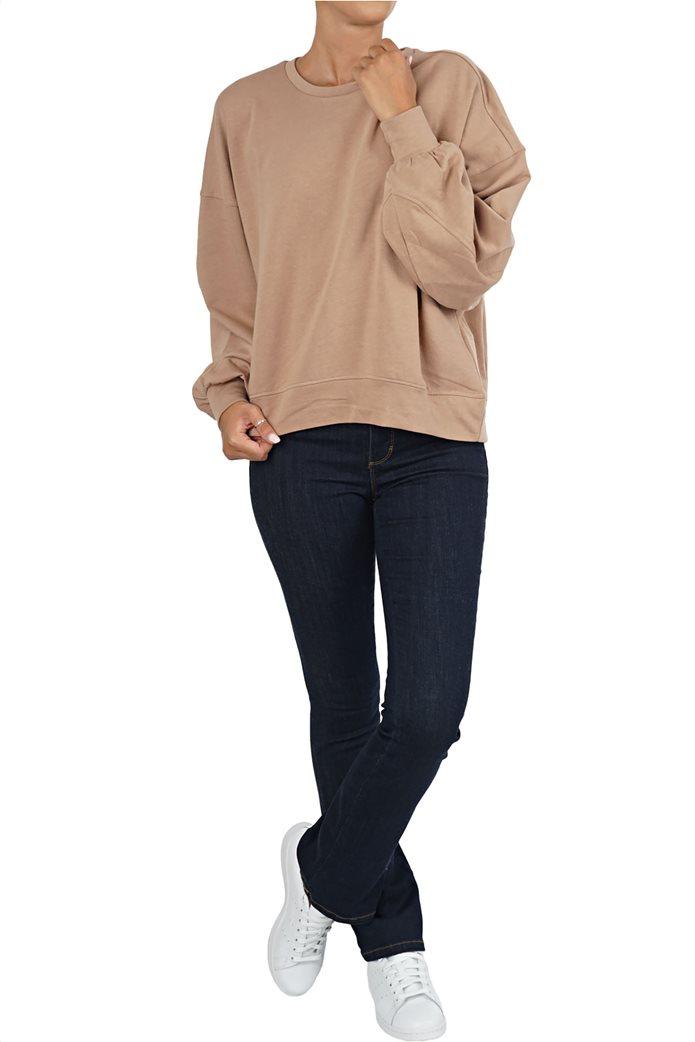 ONLY γυναικείο φούτερ oversized με φουσκωτά μανίκια 1