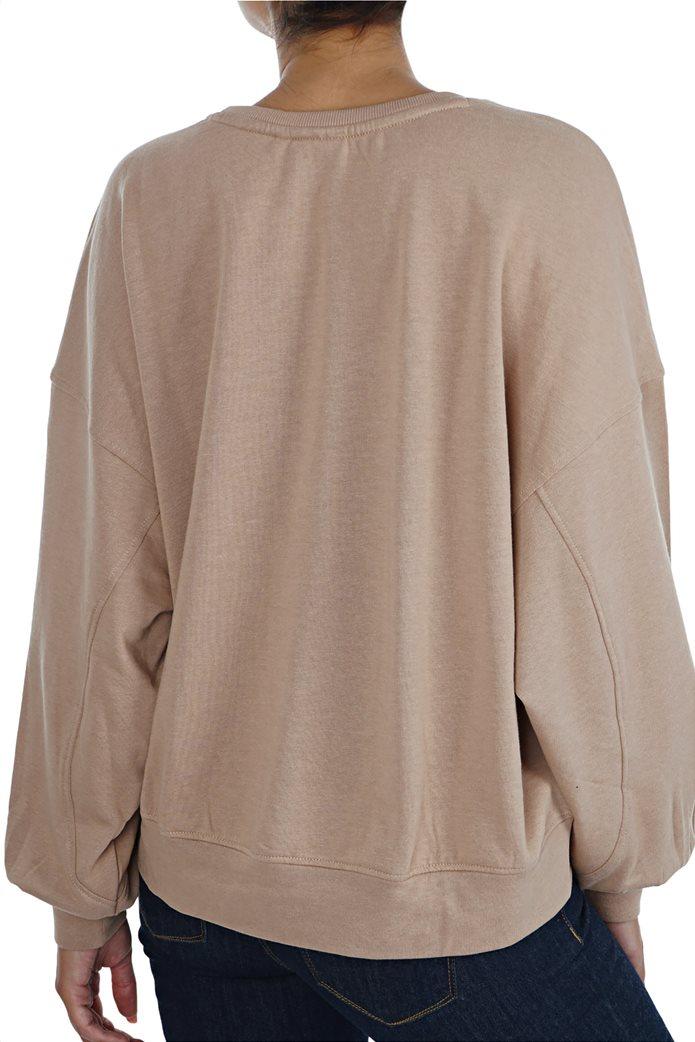 ONLY γυναικείο φούτερ oversized με φουσκωτά μανίκια 2