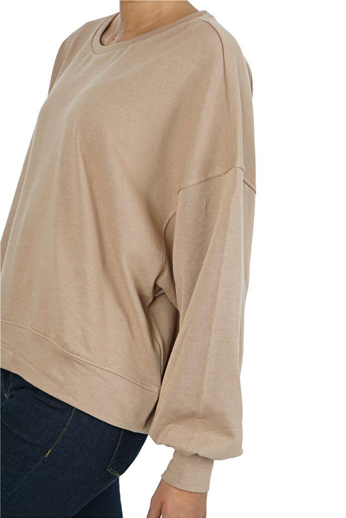 ONLY γυναικείο φούτερ oversized με φουσκωτά μανίκια 3